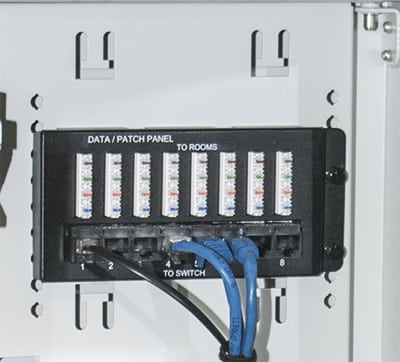 Supplied with one 8-port patch unit with no additional costs for small patching requirements.