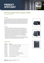Uninterruptible Power Supply Product Spotlight