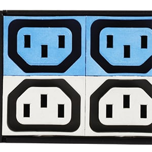 Colour-coded outlets by breaker