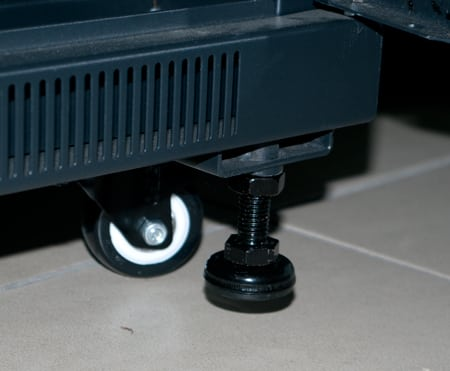 Adjustable feet and castor kit
