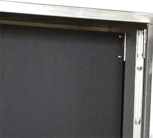 Removable double hinged panel