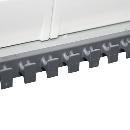 Safety cord retainer is a unique feature of the Horizon enclosures designed for easy retention of ex