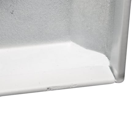 Bevelled door and double folded edges resist twisting and makes for safer handling. The safety door