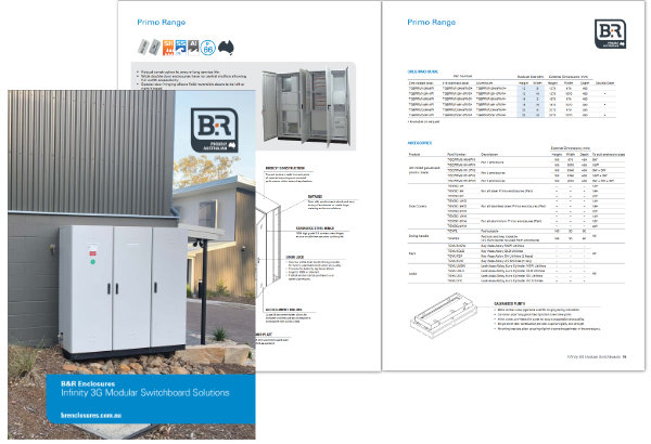 B&R Enclosures Infinity 3G Catalogue