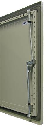 3-point locking and door rails