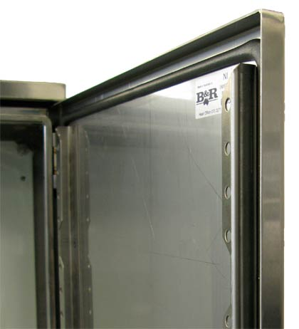 Door rails come standard in the Universal NI enclosures.