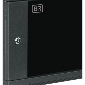 Reversible safety glass door with keylock