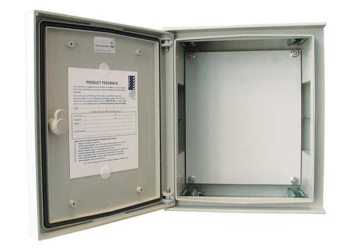 With door open including insulated mounting pan