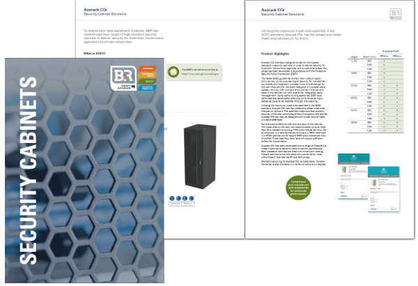 B&R Enclosures Ausrack CQr SCEC approved rack Brochure