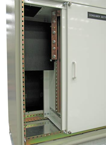 Internals showing meter panel and neutral links