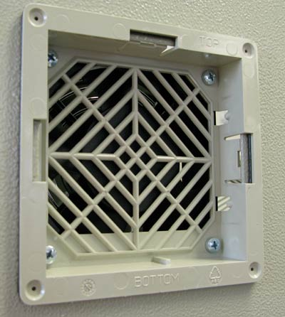Fan Unit installed on the outside of an enclosure